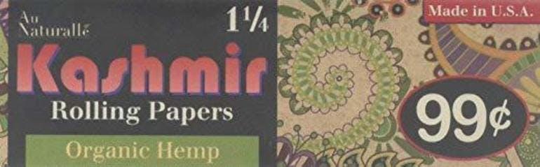 KASHMIR HEMP ORGANIC ROLLING PAPERS  1 1/4
